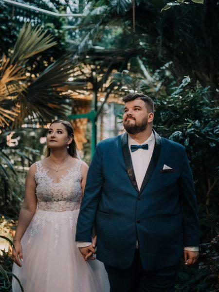 Kasia & Damian – sesja ślubna, Palmiarnia Gliwice