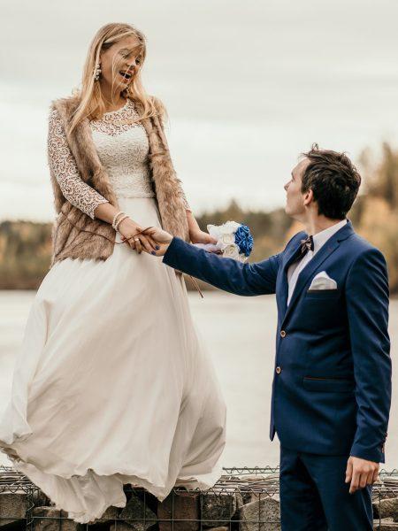 Dominika & Piotr – sesja ślubna, Park Gródek Jaworzno