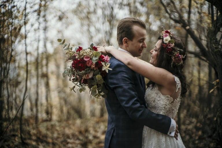 Ewelina i Dawid - sesja ślubna park segiet bytom